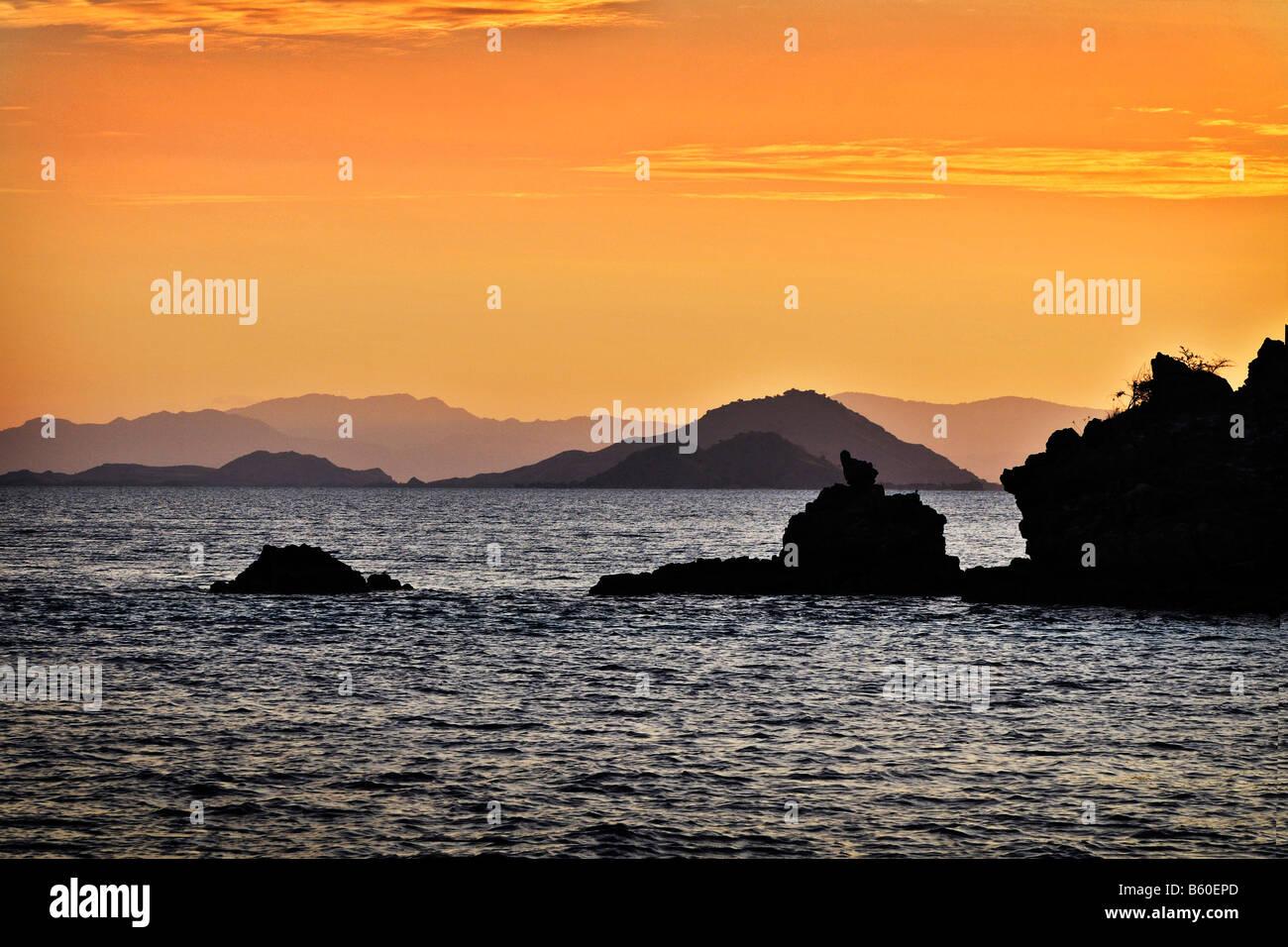 One of many islands, Komodo National Park, World Heritage Site, Komodo, Indonesia, Asia - Stock Image