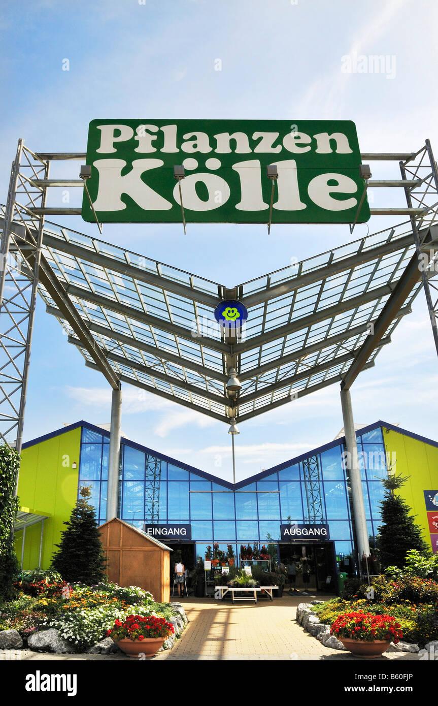 Pflanzen Koelle, modern market hall near Munich, Bavaria Stock Photo