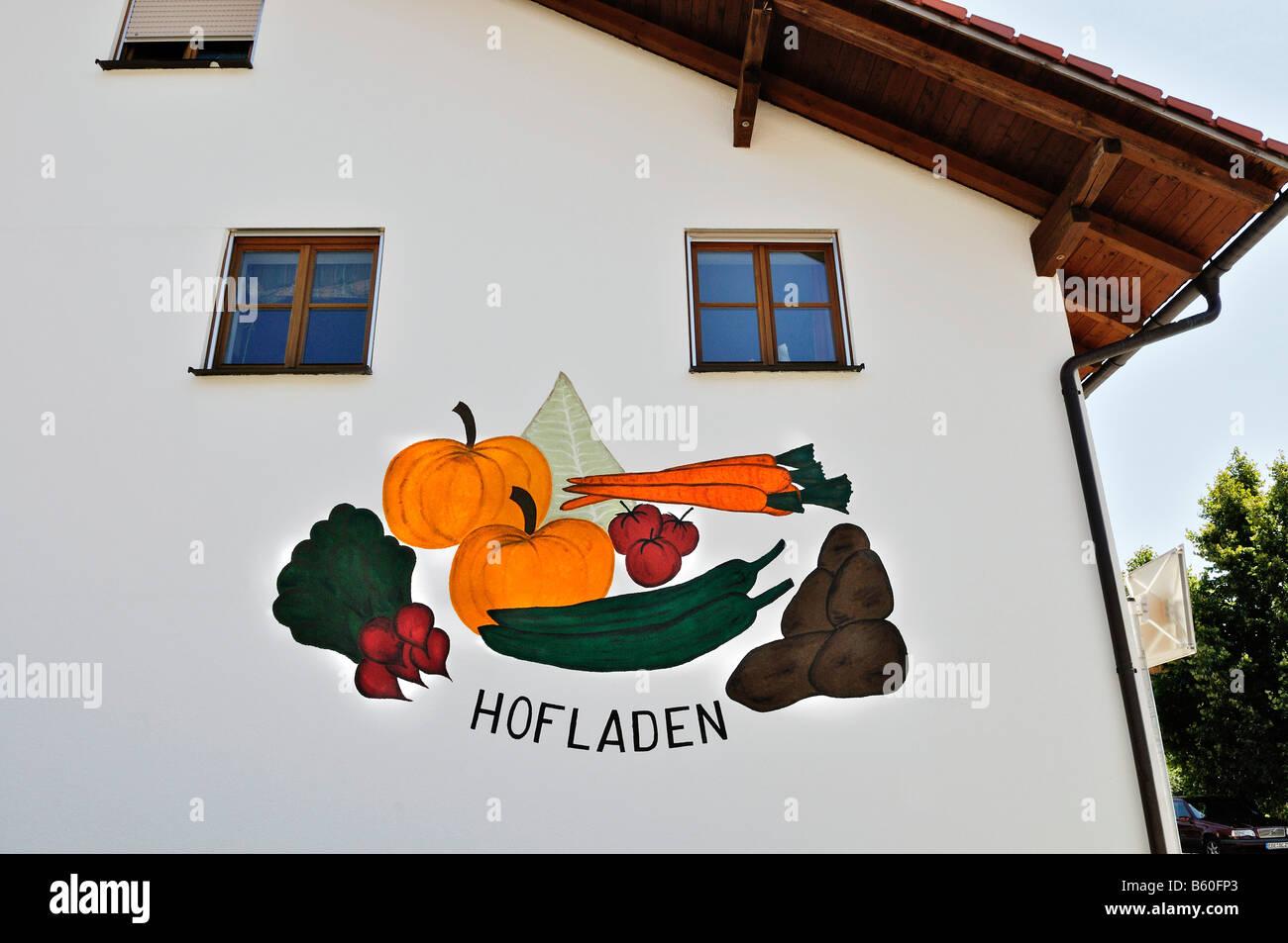 Hofladen or farm shop near Munich, Bavaria - Stock Image