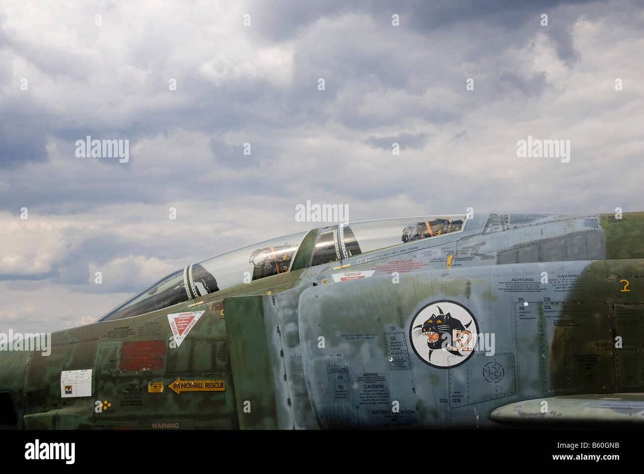 Cockpit of a McDonnell Douglas RF-4E Phantom II fighter plane - Stock Image
