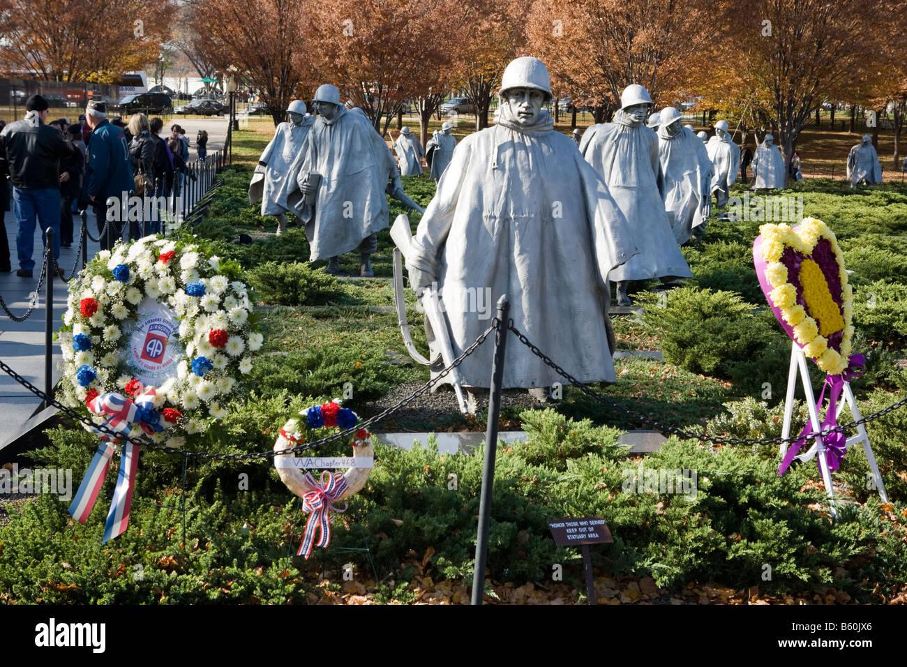 Korean War Memorial Washington D.C. - Stock Image