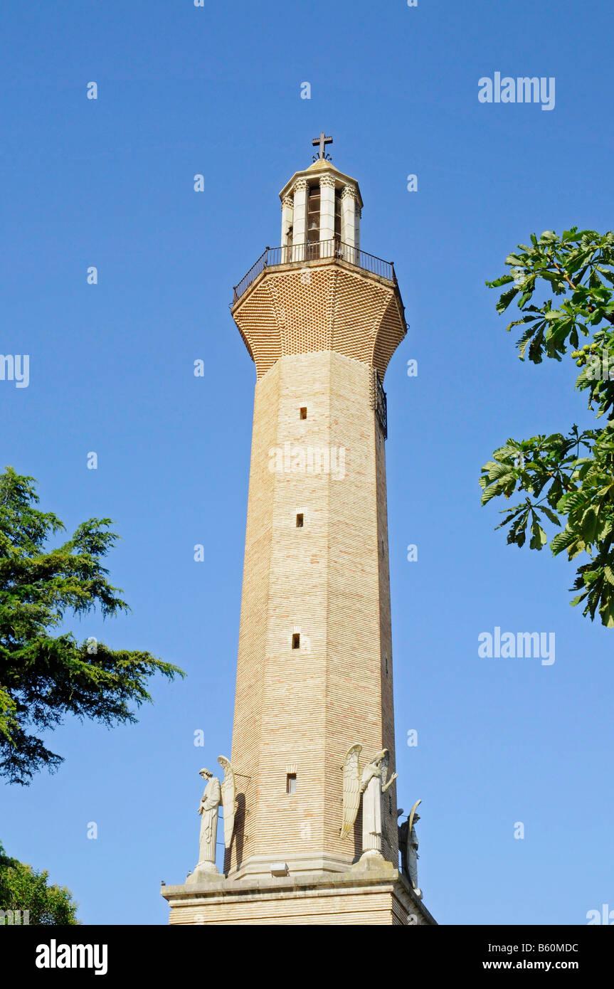 Church Steeple, Belchite, Aragon, Spanien, Europa - Stock Image
