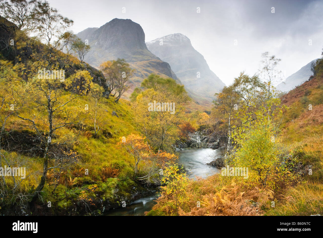 Glen Coe, River Coe, Highland, Scotland, UK - Stock Image