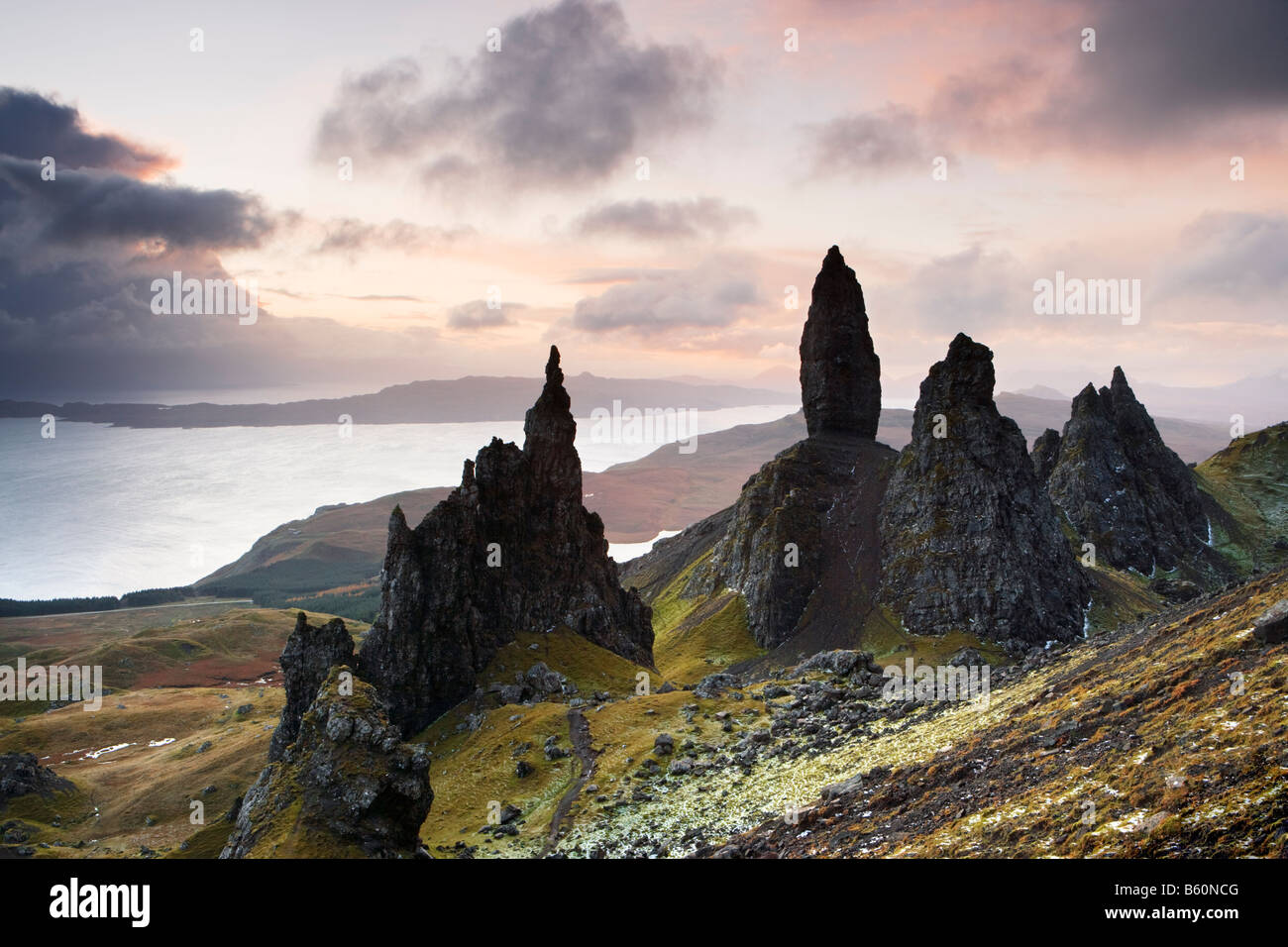 The Storr (Needle Rock and Old Man of Storr), Isle of Skye, Scotland, UK - Stock Image