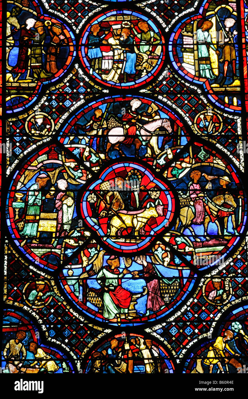 Colourful Stained Glass Window Church Window Depiction