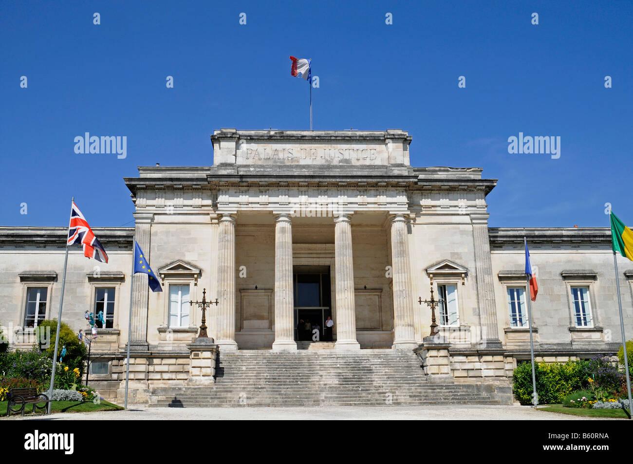Law courts, Saintes, Poitou Charentes, France, Europe - Stock Image