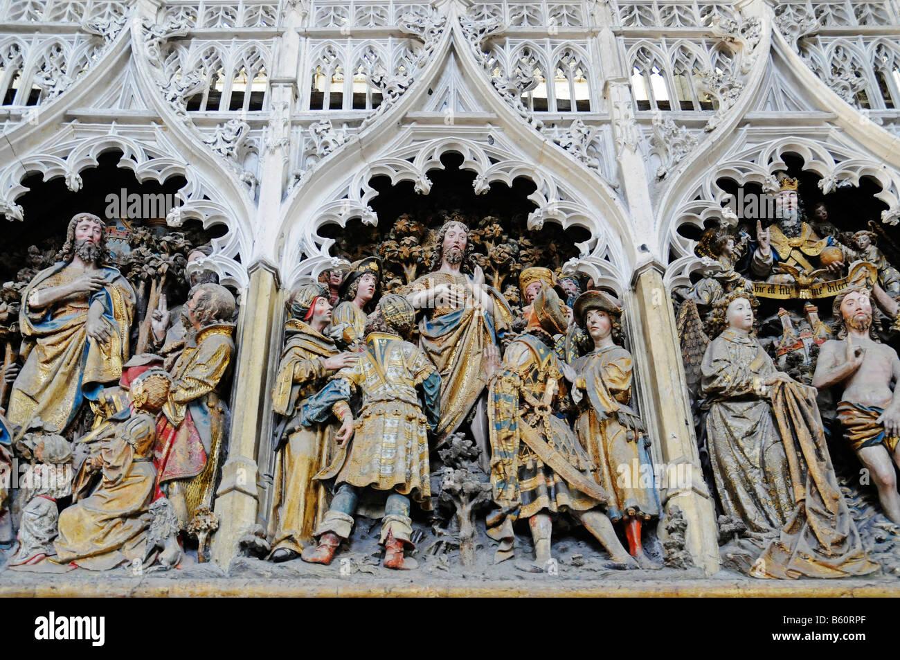 Choir, decoration, biblical depiction, Notre Dame Cathedral