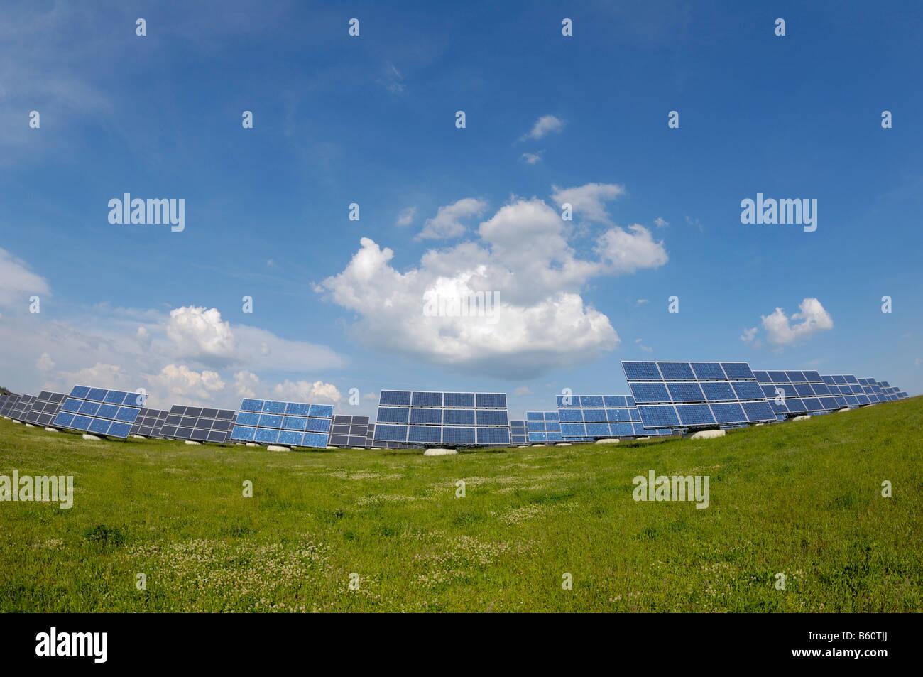 World's largest solar panel field, near Arnstein, Bavaria - Stock Image
