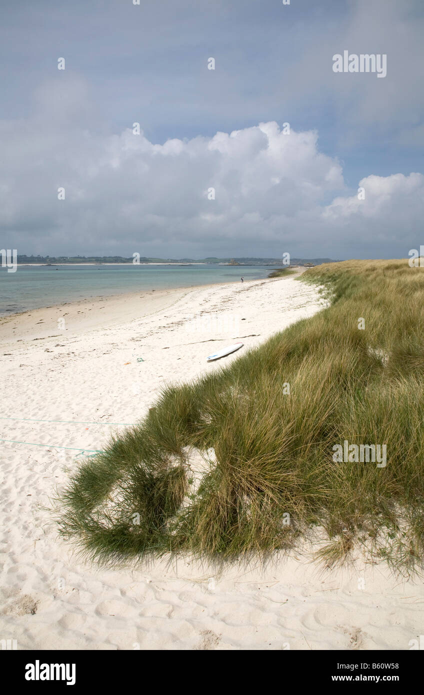 beach st martins Isles of Scilly - Stock Image