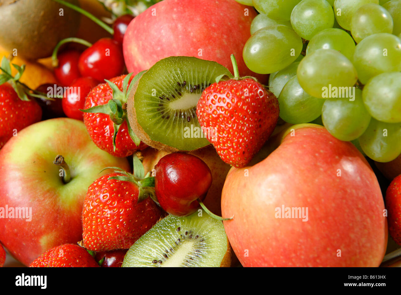 Fresh fruit rich in vitamins - Stock Image
