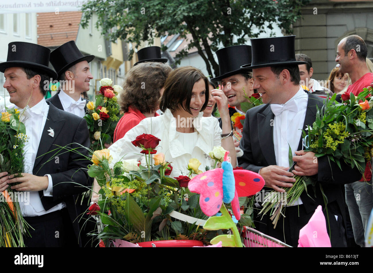 Gmuender city festival, parade of the 40-year-old people, Schwaebisch Gmuend, Baden-Wuerttemberg - Stock Image