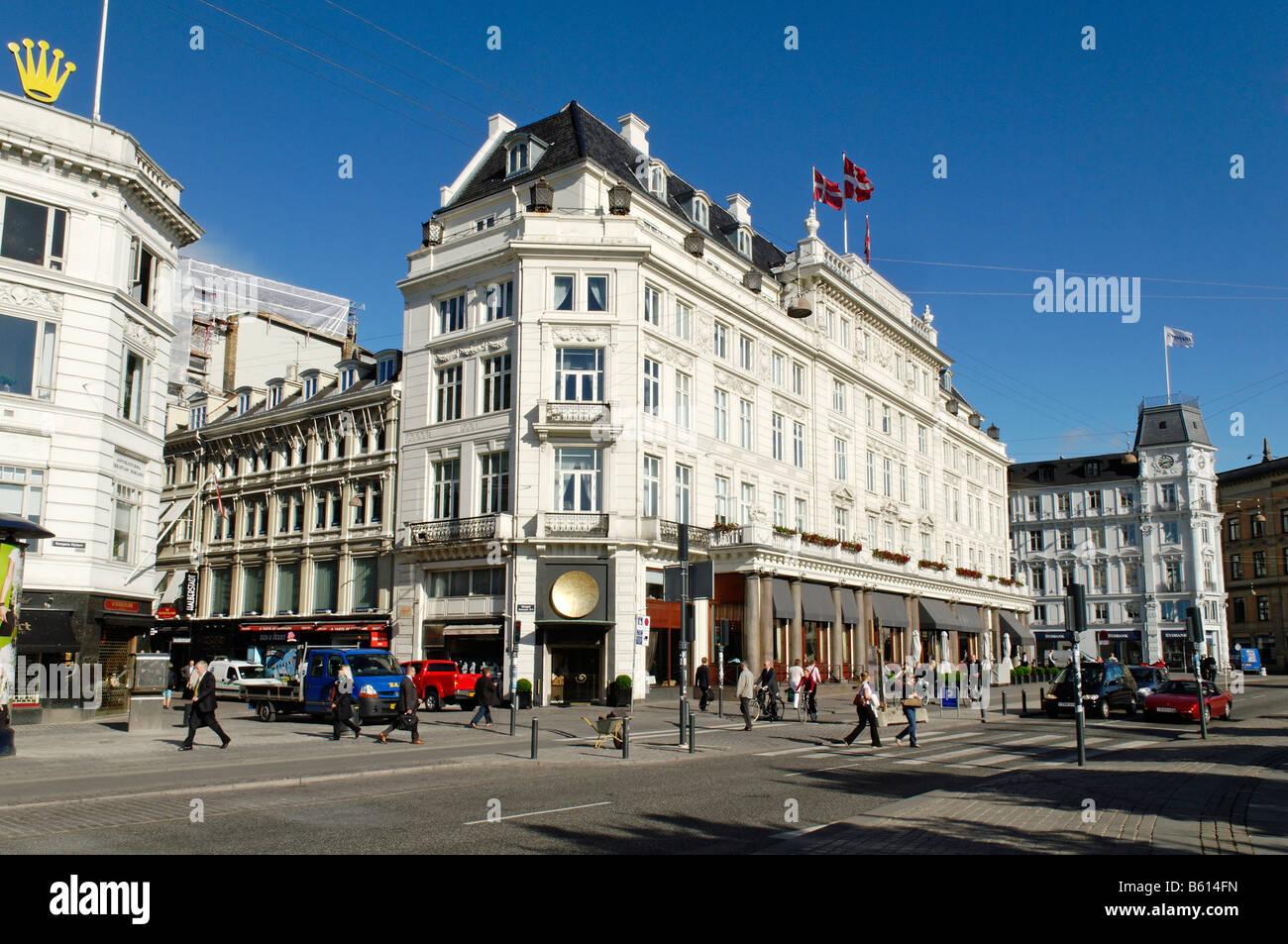 Hotel d'Angleterre, historic luxury hotel, Kongens Nytorv or King's New Square, Copenhagen, Denmark, Scandinavia, - Stock Image