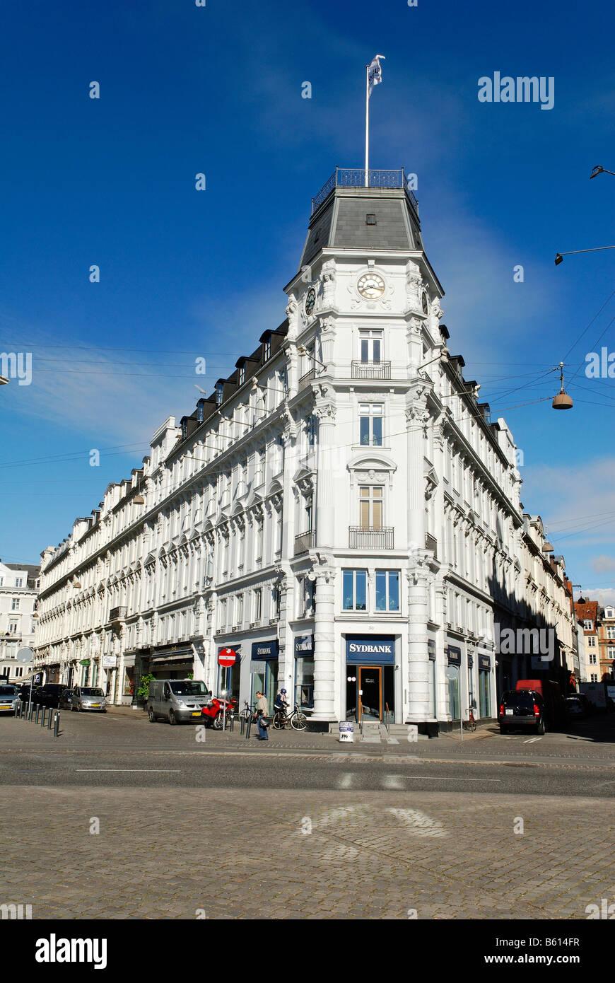 Historic bank at Kongens Nytorv or King's New Square, Copenhagen, Denmark, Scandinavia, Europe - Stock Image