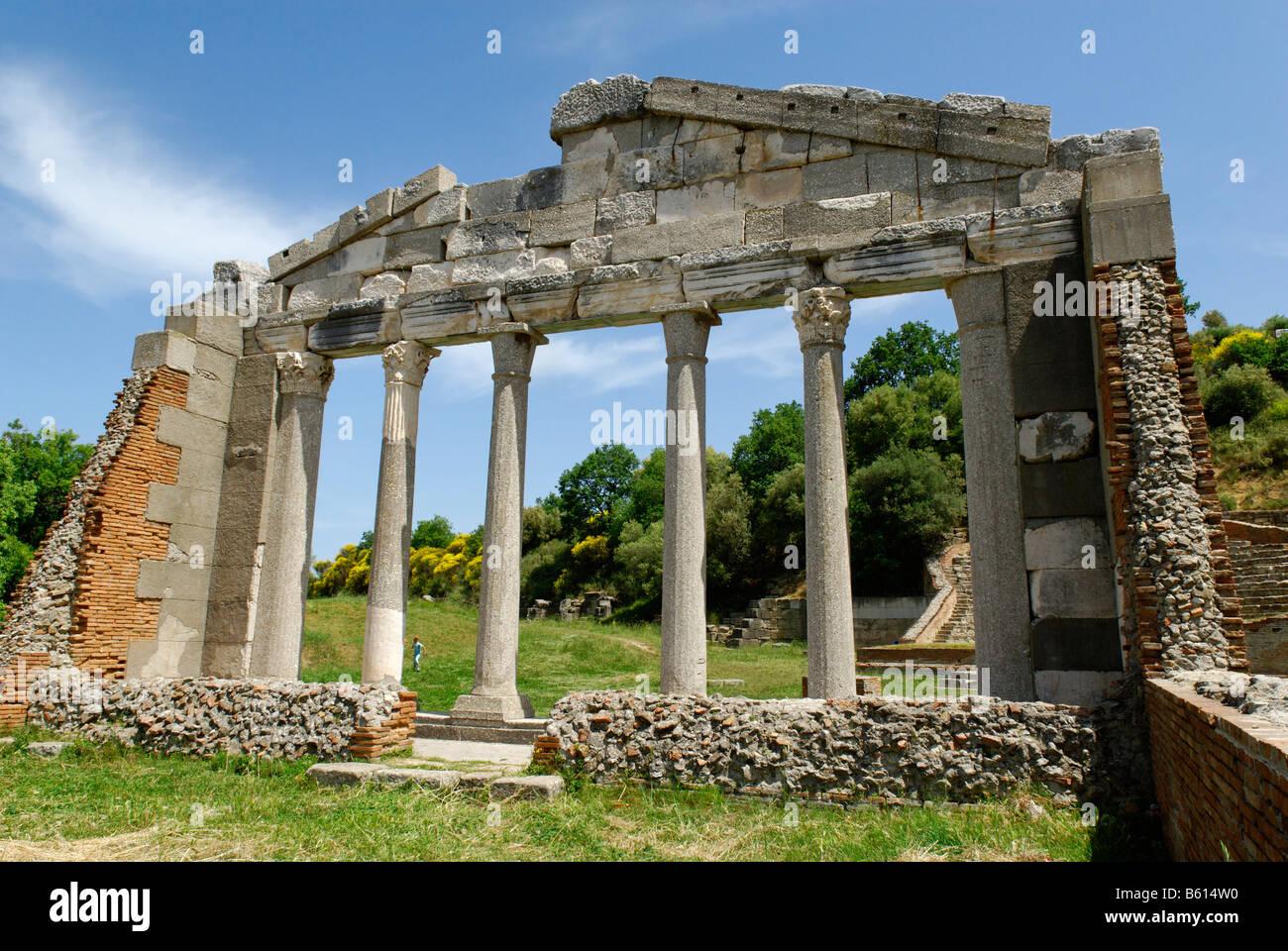 Apollonia ancient Greek archeological excavation, Albania, the Balkans, Europe - Stock Image