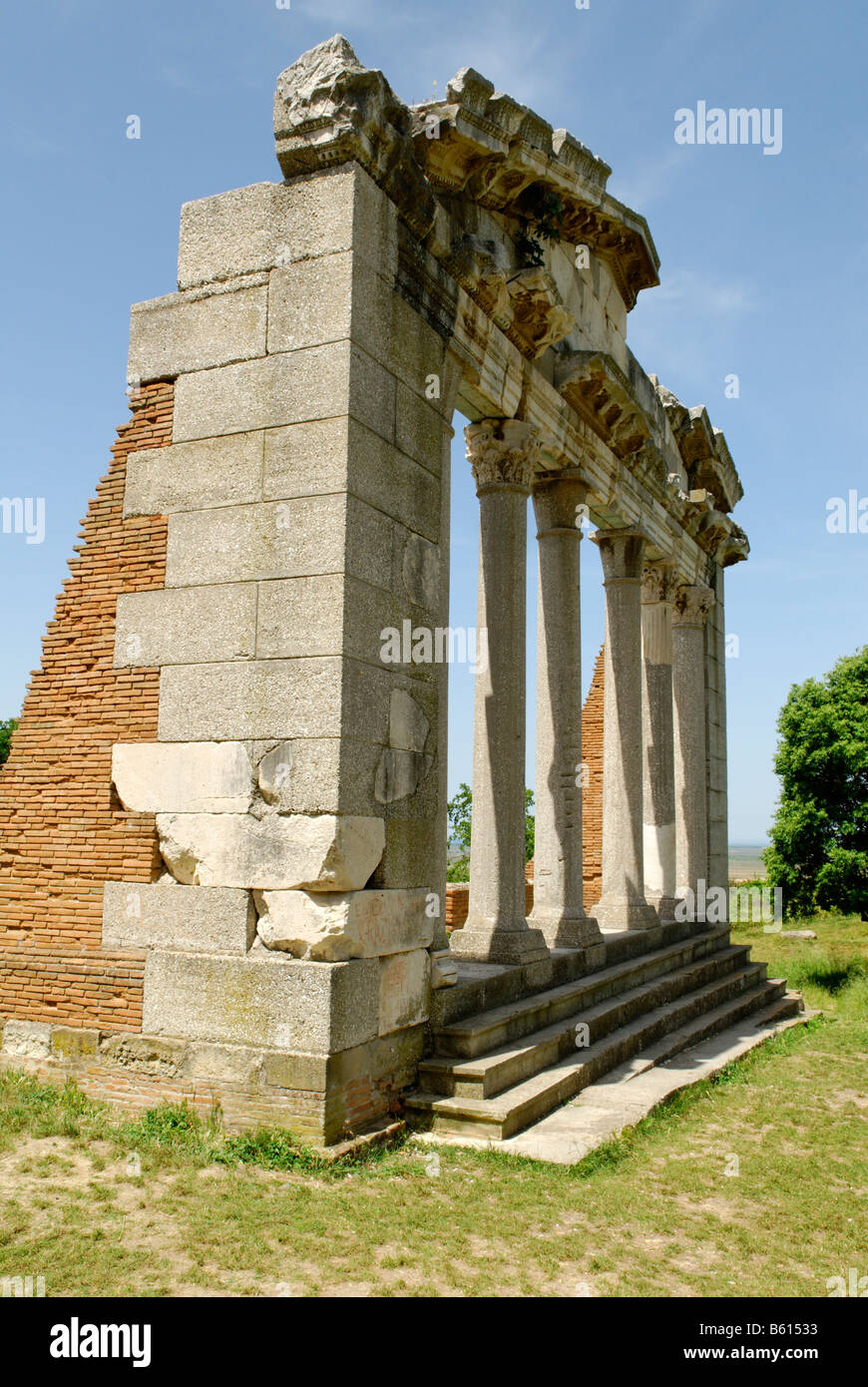 Ancient Greek archeological excavation of Apollonia, Albania, the Balkans, Europe - Stock Image