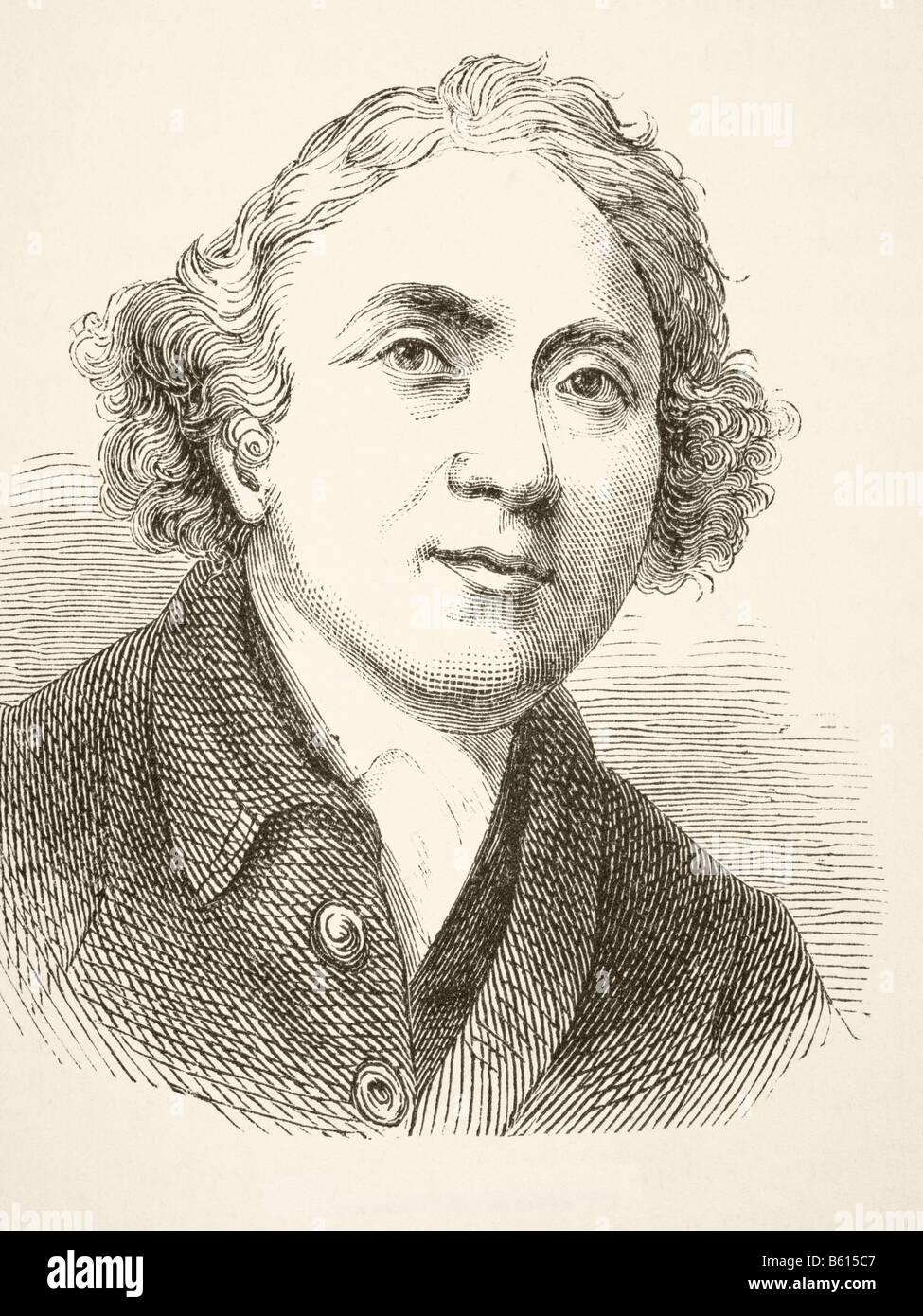 John Hunter, 1728 - 1793. Scottish surgeon.  Founder of pathological anatomy in England - Stock Image