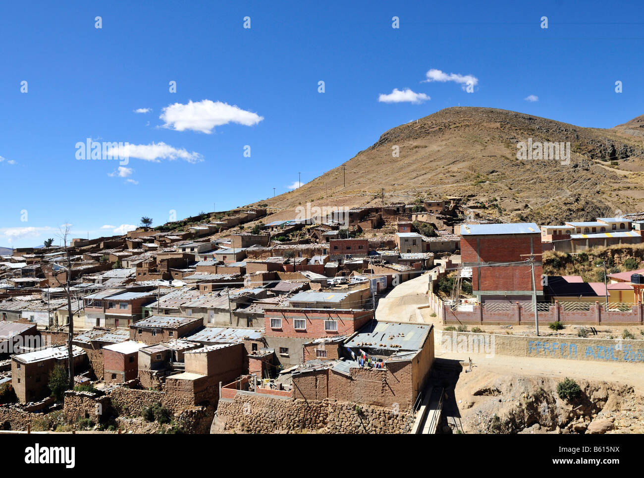 Llallagua mining centre, Potosi, Bolivia, South America - Stock Image