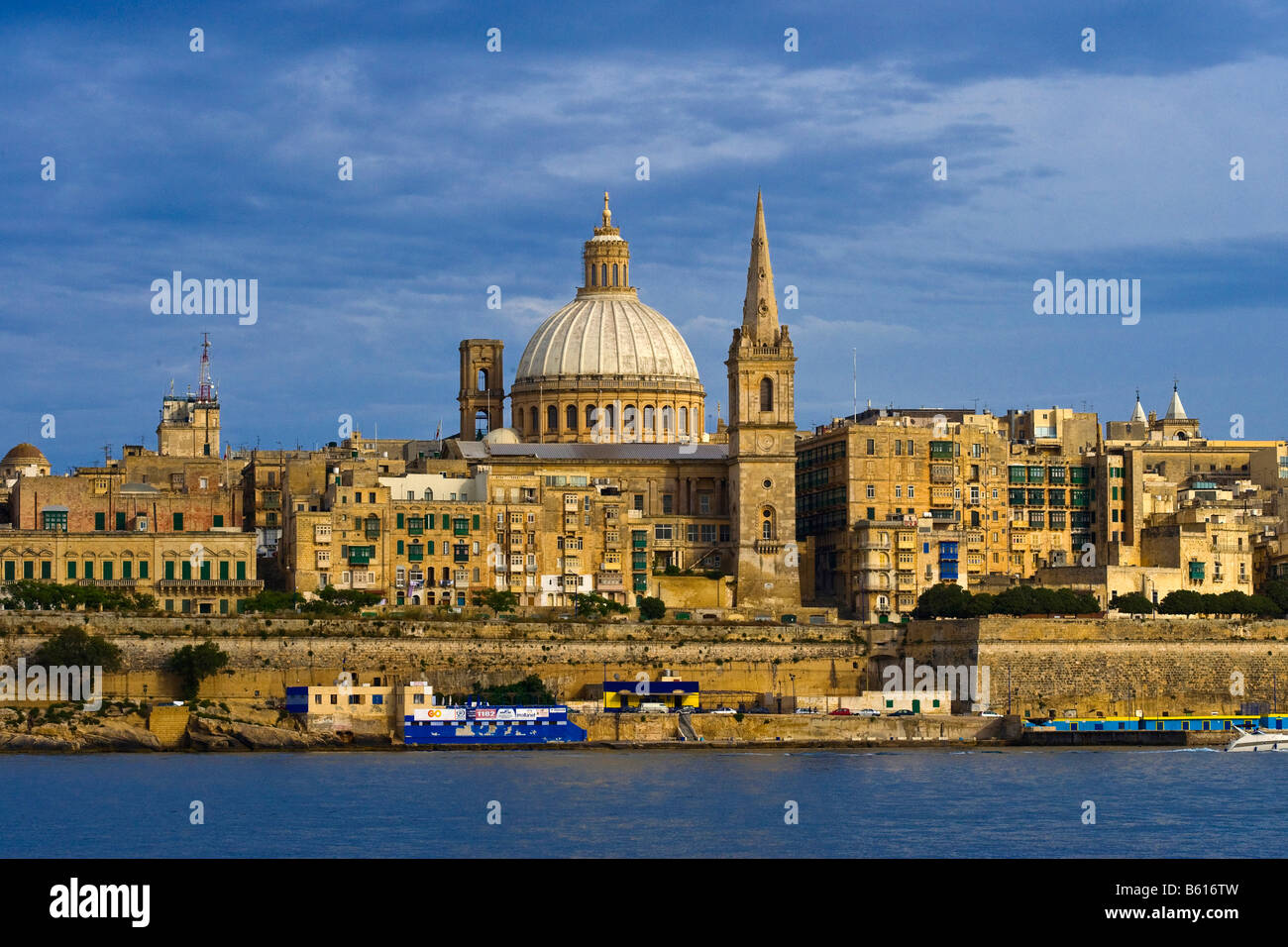 St. Paul's Anglican Cathedral, Malta, Europe - Stock Image