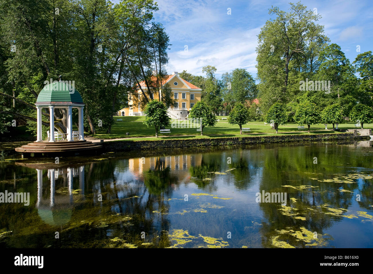 Pavillion Rotunda, Palmse Manor, Lahemaa, Estonia, Baltic States, Northeast Europe - Stock Image