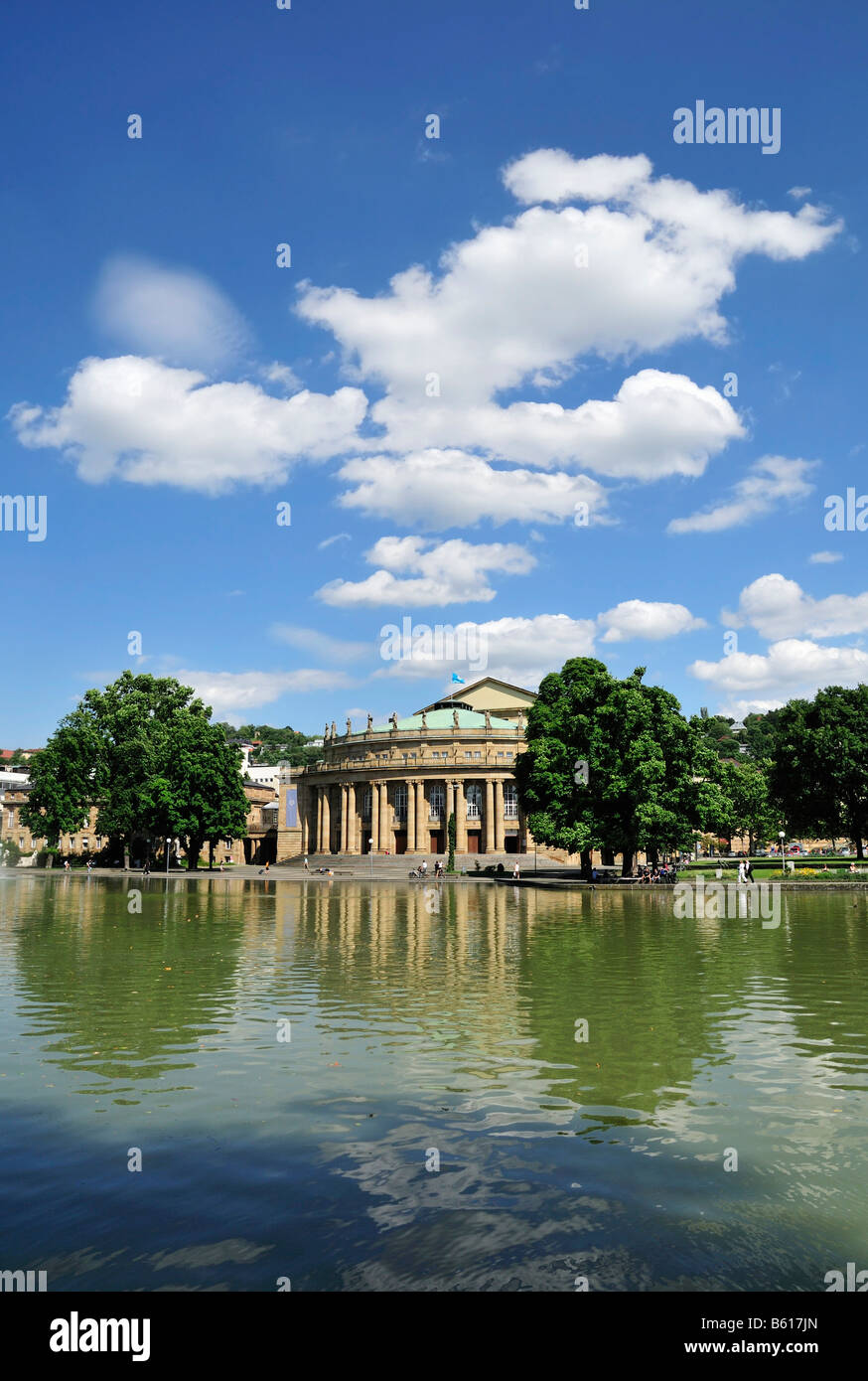Staatstheater, National Theatre, locally known as Grosses Haus, Large House, Stuttgart, Baden-Wuerttemberg - Stock Image