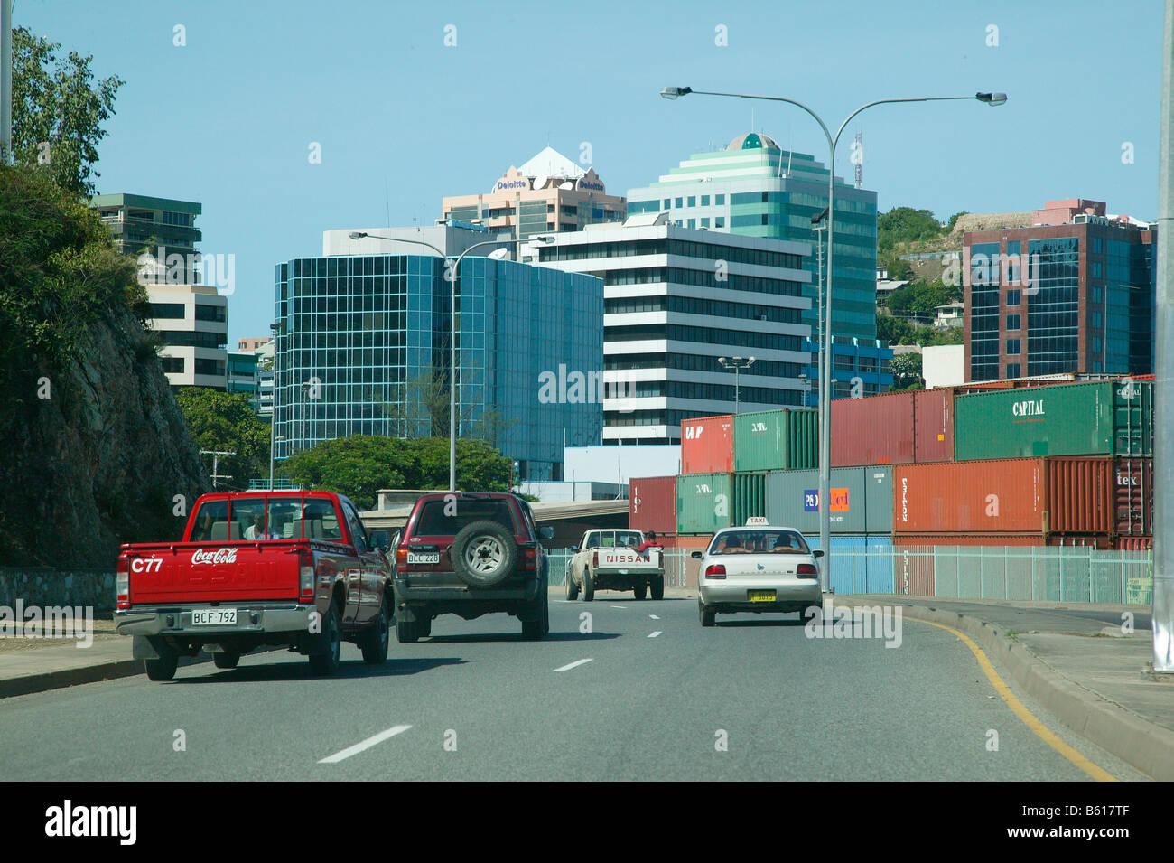 Port of Port Moresby, Papua New Guinea, Melanesia - Stock Image