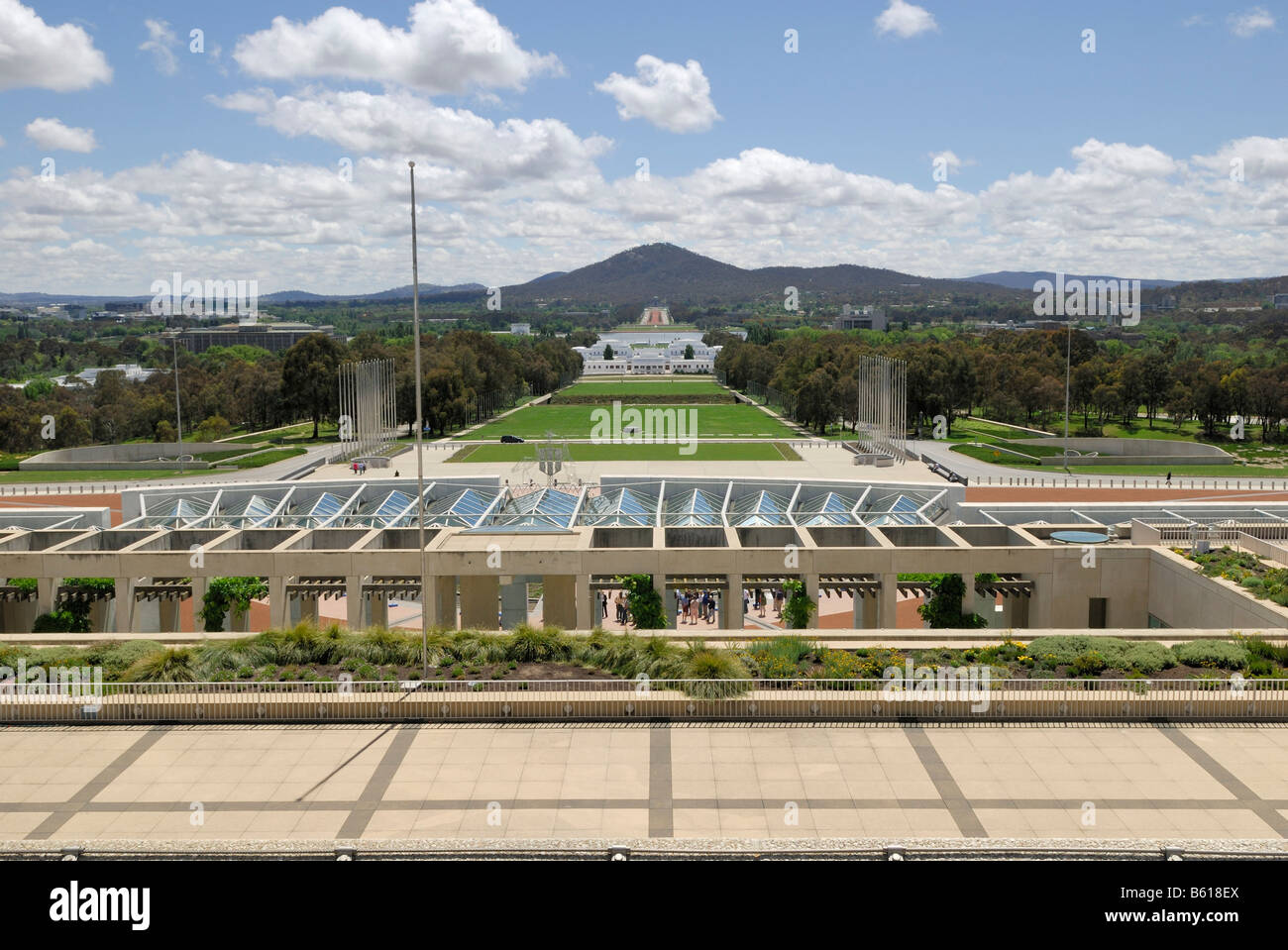View From The Roof Terrace Of The New House Of Parliament On Mount Stock Photo - Alamy