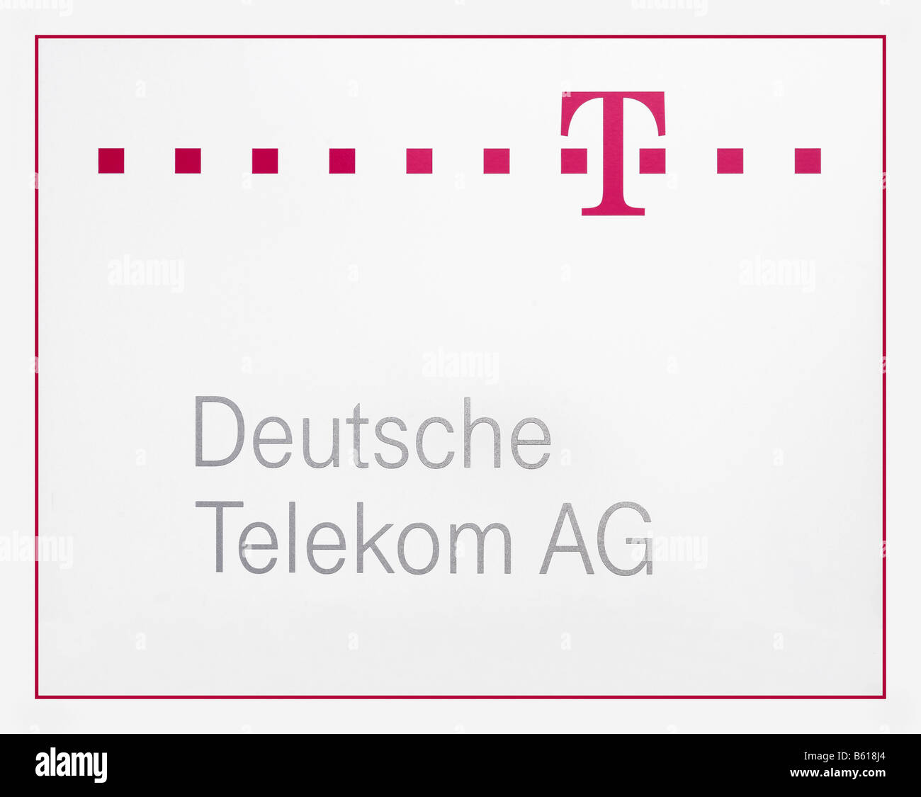 Logo of the Deutsche Telekom AG with logotype - Stock Image