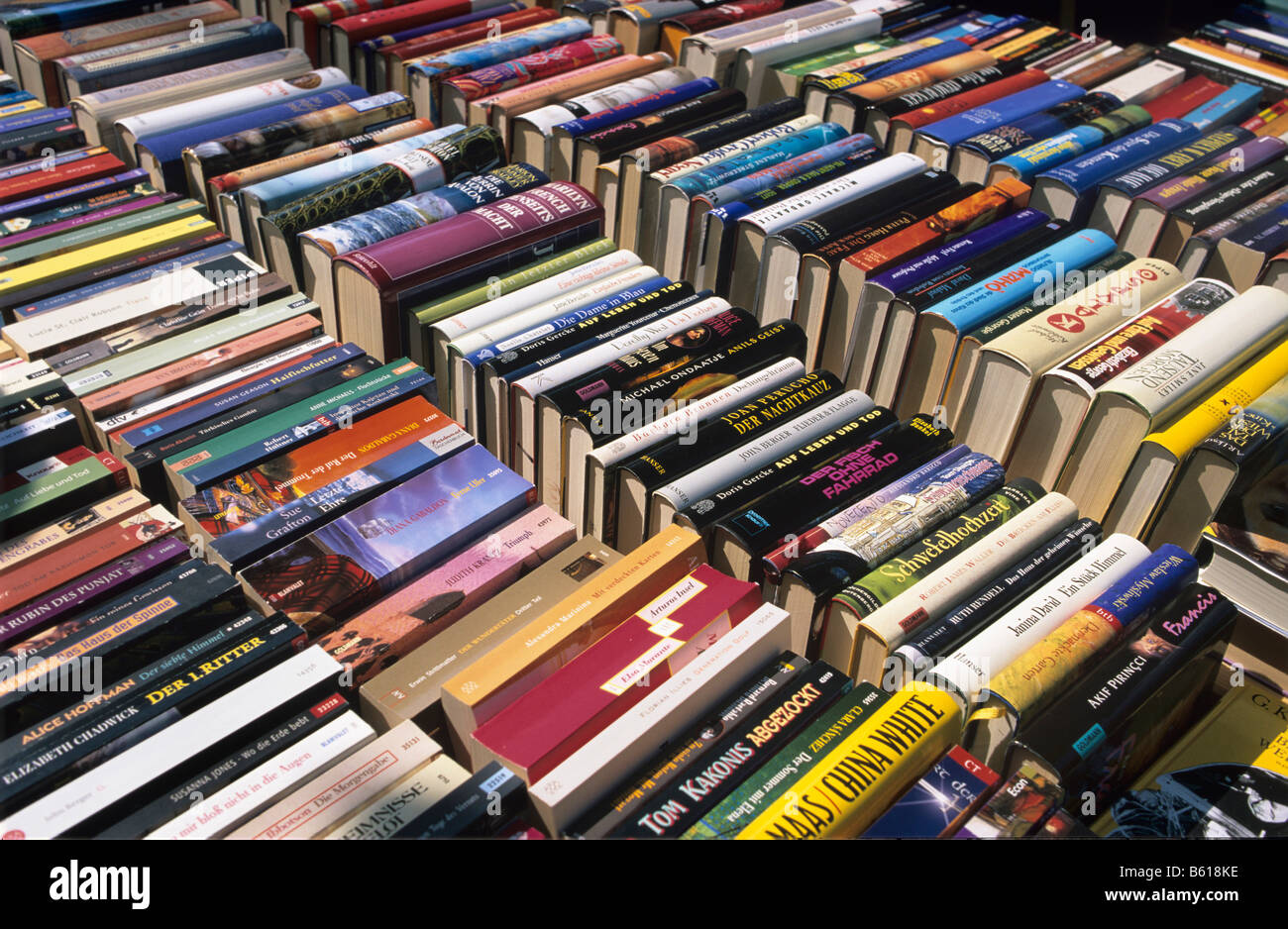 Second-hand book market - Stock Image