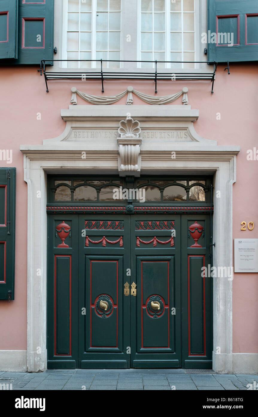 Portal of Beethovenhaus, birth house of Ludwig van Beethoven, Bonn, North Rhine-Westphalia Stock Photo
