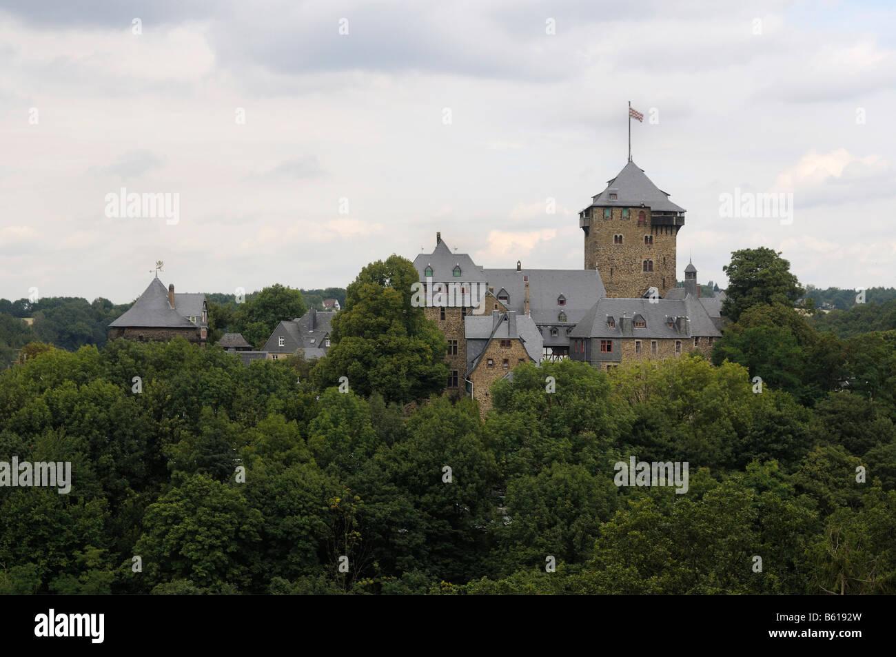 Burg Castle, Burg an der Wupper, Solingen, North Rhine-Westphalia - Stock Image