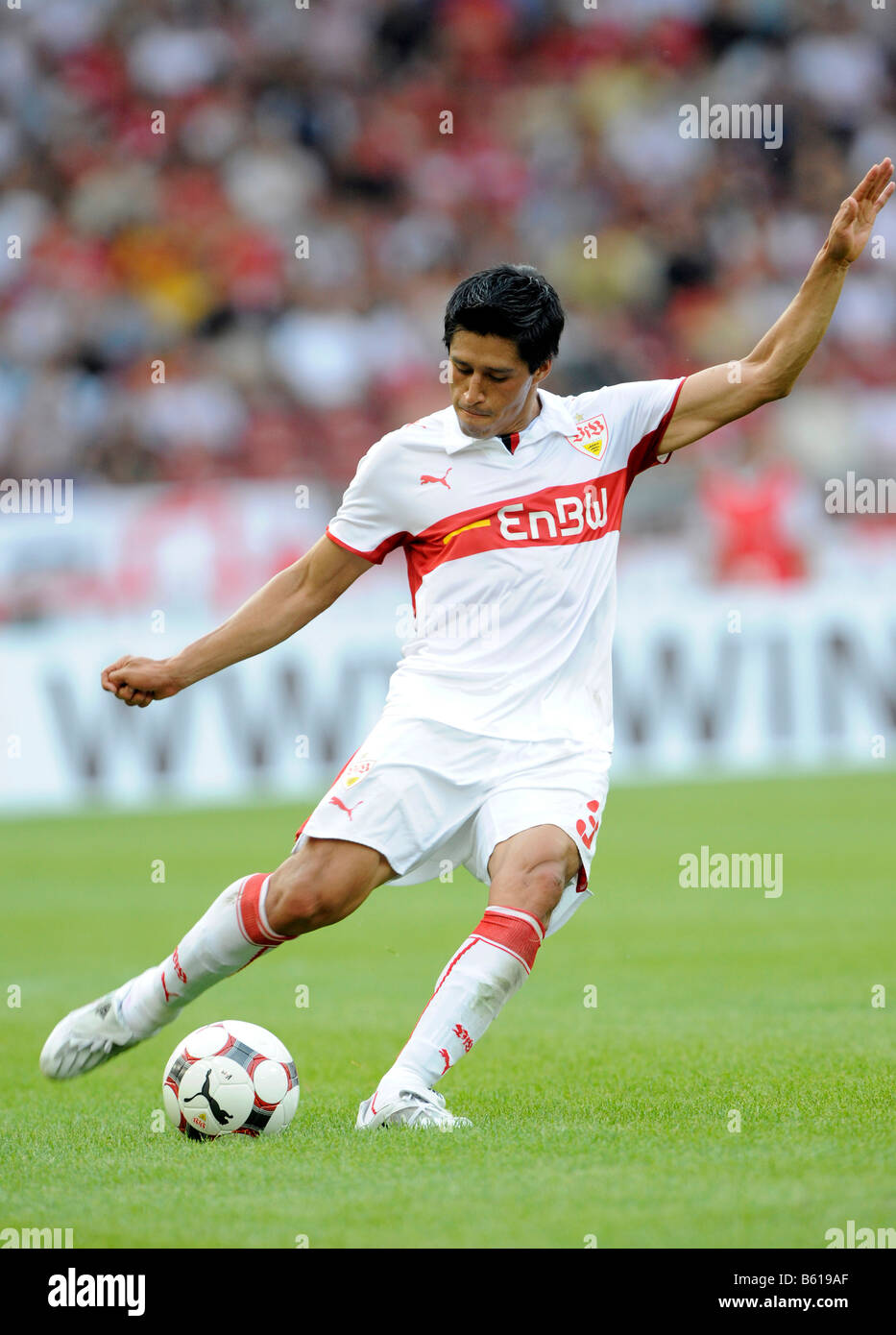 Ricardo Osorio, football player of VfB Stuttgart, shooting - Stock Image