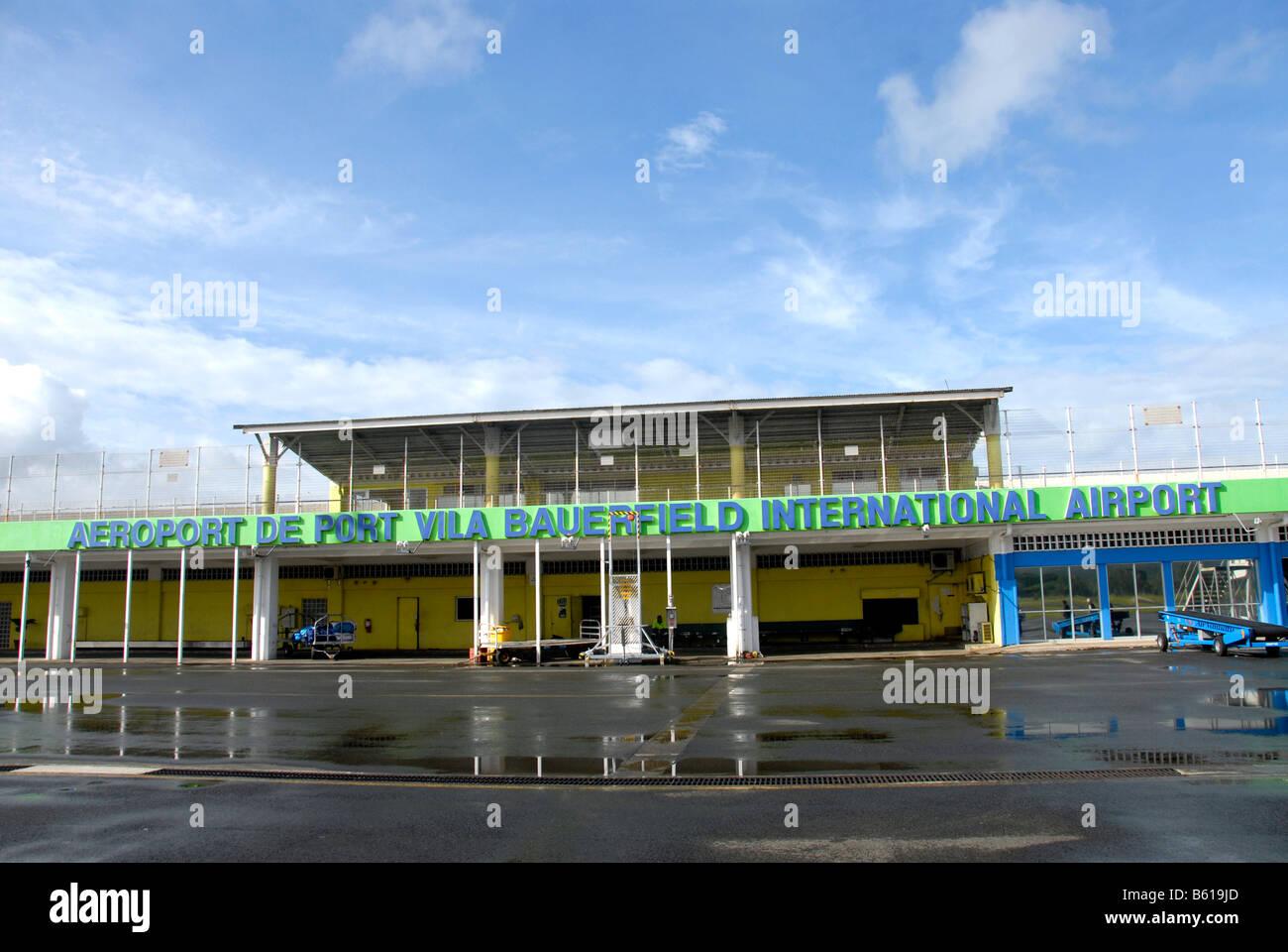 transportBauerfield international airport, Port Vila, Efate island, Vanuatu - Stock Image