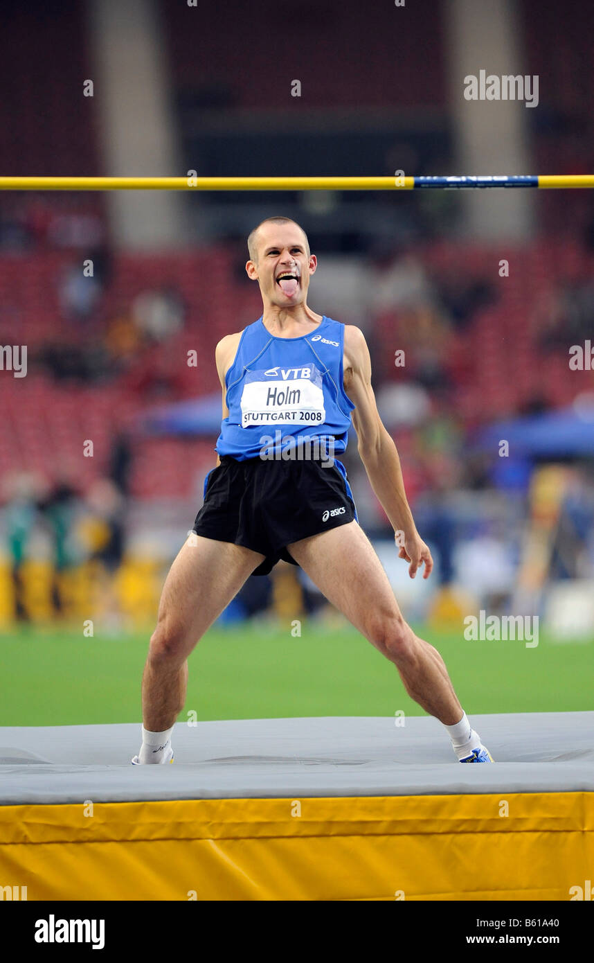 Stefan HOLM, SWE, High Jump, at the IAAF 2008 World Athletics Final for track and field in the Mercedes-Benz Arena, - Stock Image