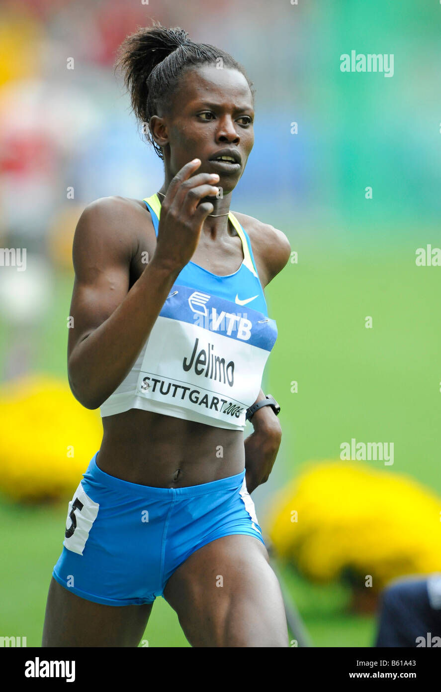 Pamela JELIMO, KEN, 800m, first place, at the IAAF 2008 World Athletics Final for track and field in the Mercedes - Stock Image