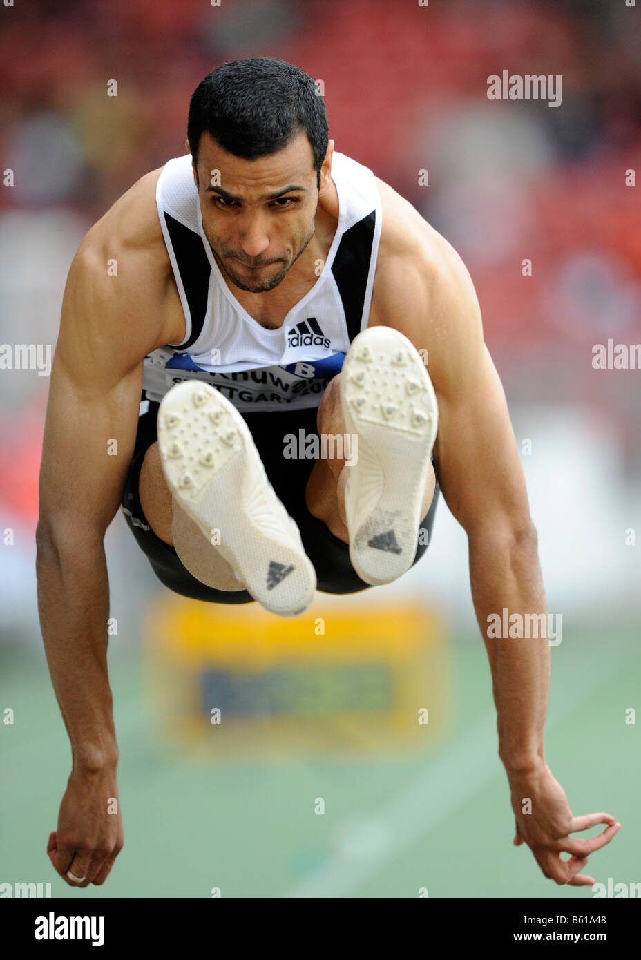 Hussein Taher AL-SABEE, KSA, long jump, at the IAAF 2008 World Athletics Final for track and field in the Mercedes - Stock Image