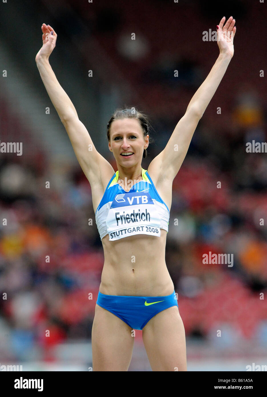 Ariane FRIEDRICH, GER, High Jump, at the IAAF 2008 World Athletics Final for track and field in the Mercedes-Benz - Stock Image