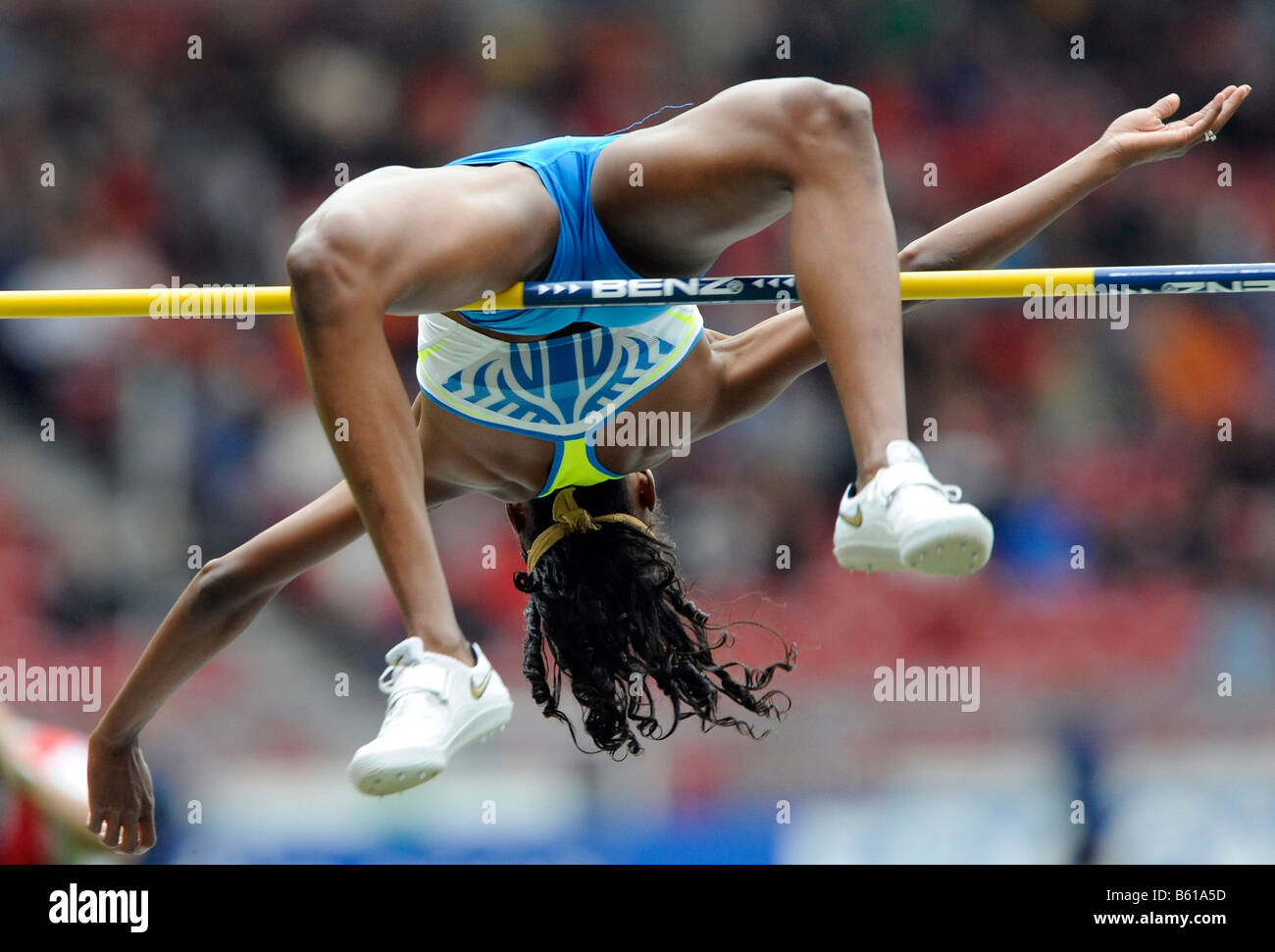 Chaunte HOWARD, USA, High Jump, at the IAAF 2008 World Athletics Final for track and field in the Mercedes-Benz - Stock Image