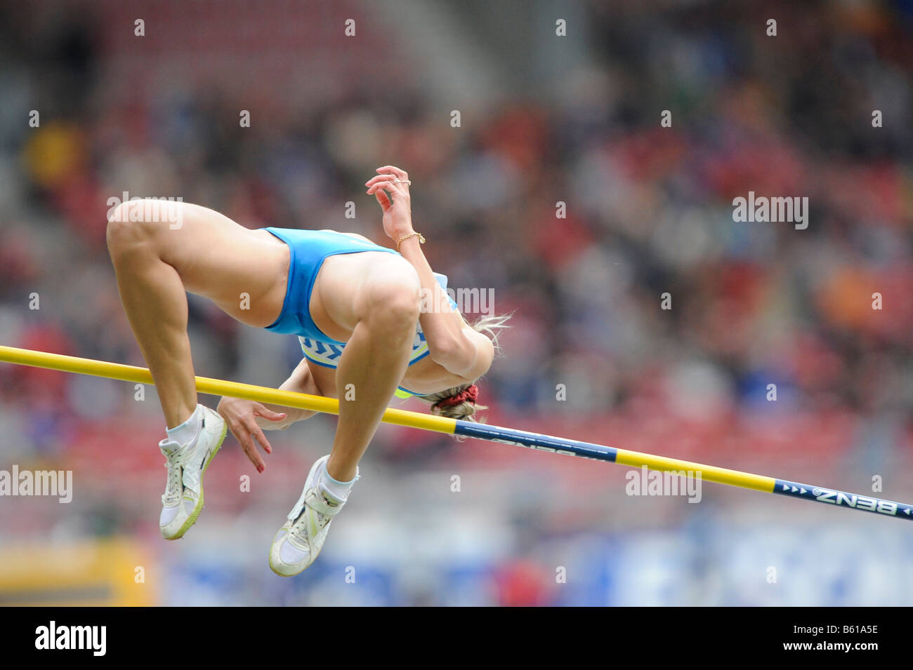Marina AITOVA, KAZ, hits the crossbar, High Jump, at the IAAF 2008 World Athletics Final for track and field in - Stock Image