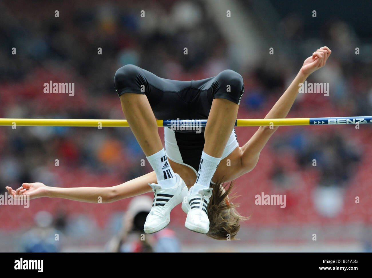 Blanka VLASIC, CRO, High Jump, first place, at the IAAF 2008 World Athletics Final for track and field in the Mercedes - Stock Image