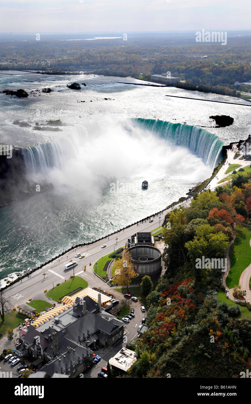 Aerial View of Niagara Falls from Skylon Tower Ontario Canada - Stock Image