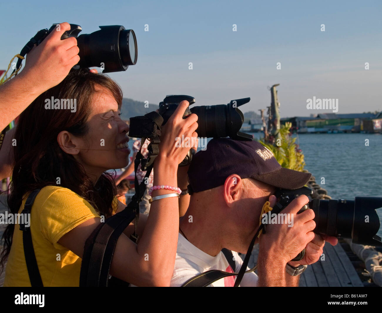 Nikon D300 lovers Phuket Thailand - Stock Image