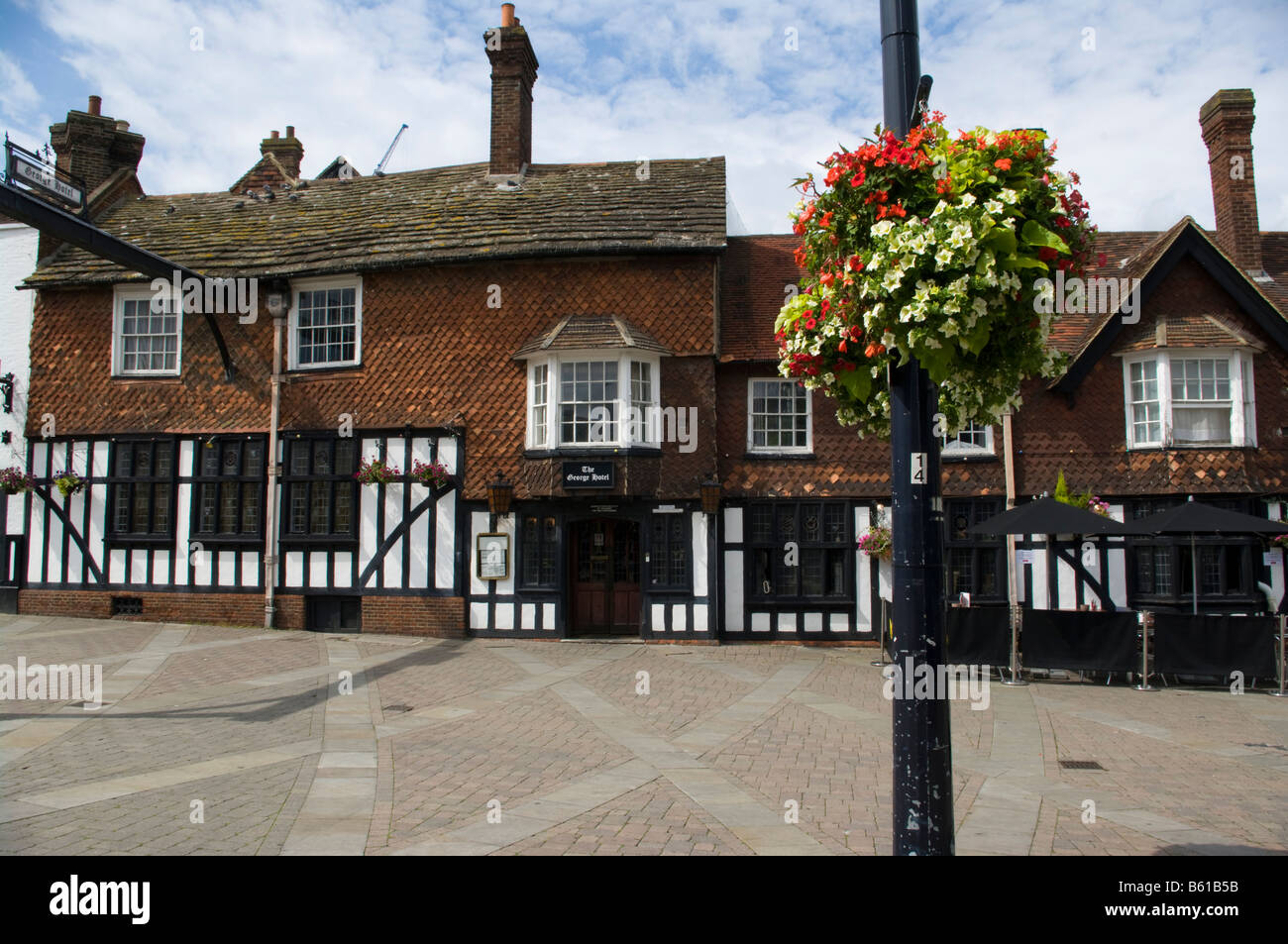 The George Hotel High Street Crawley West Sussex UK - Stock Image