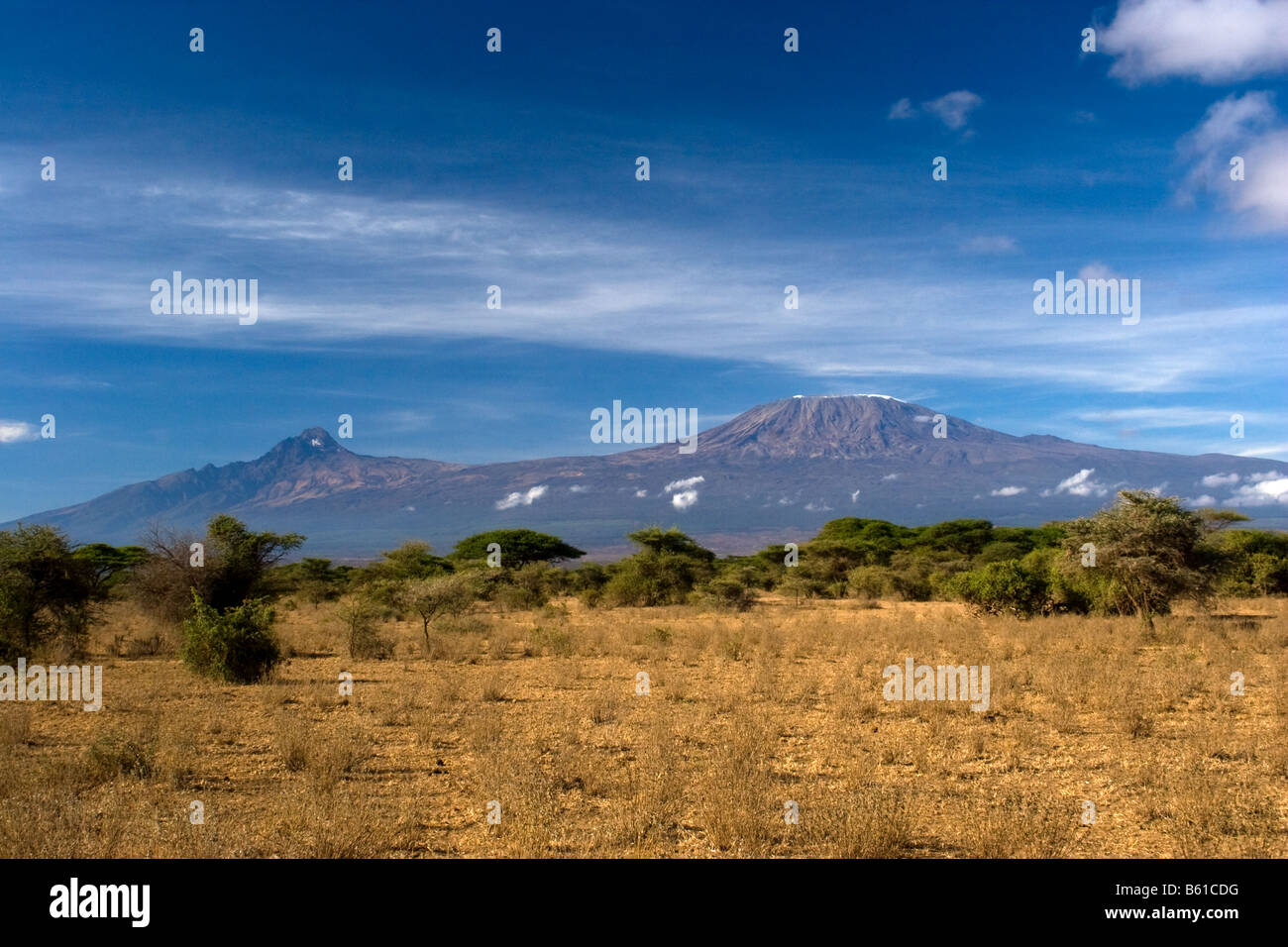 Mount Kilimanjaro Kenya - Stock Image