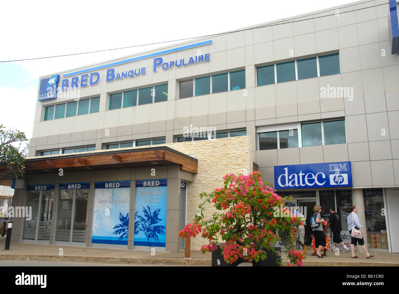 Bred Banque Populaire Bank, Port Vila, Efate island, Vanuatu - Stock Image