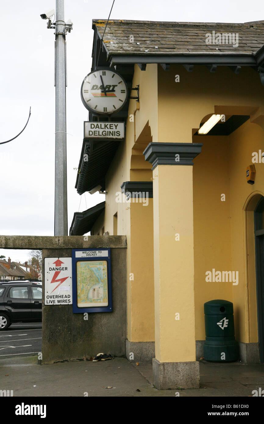 Dalkey Dart Station Dalkey Delginis CoDublin Co Dublin County Ireland Eire - Stock Image