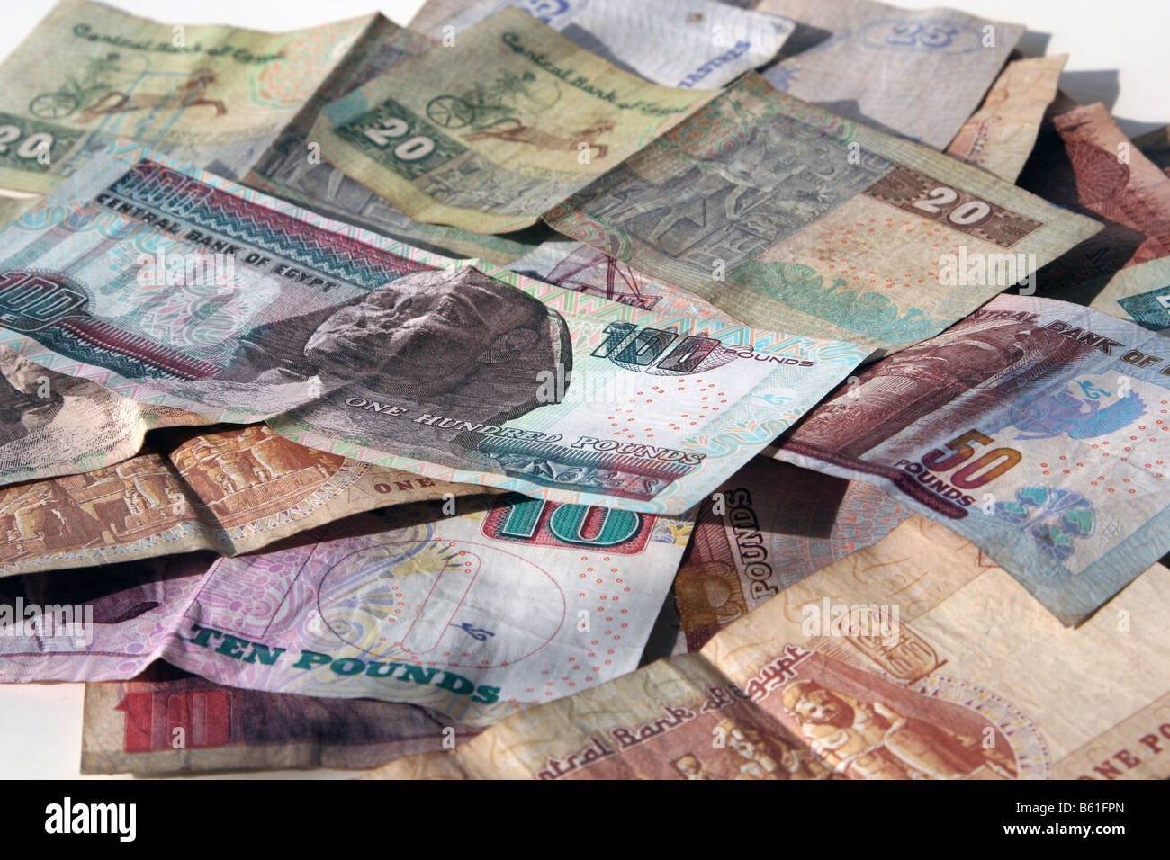 Egypt Currencies , Egyptian Pound - Stock Image