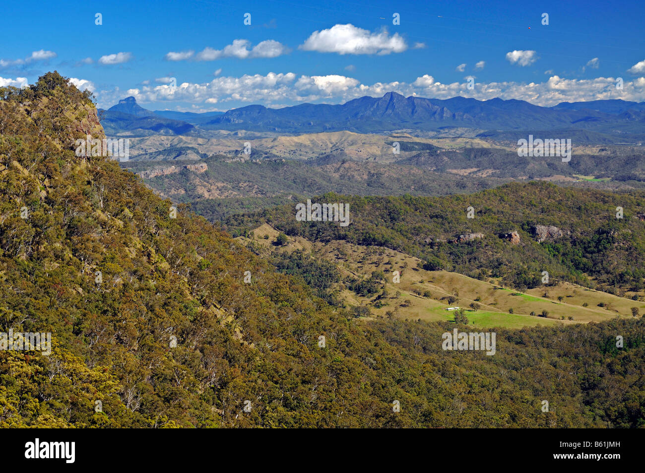 View over the mountains in the Lamington National Park, Australia - Stock Image