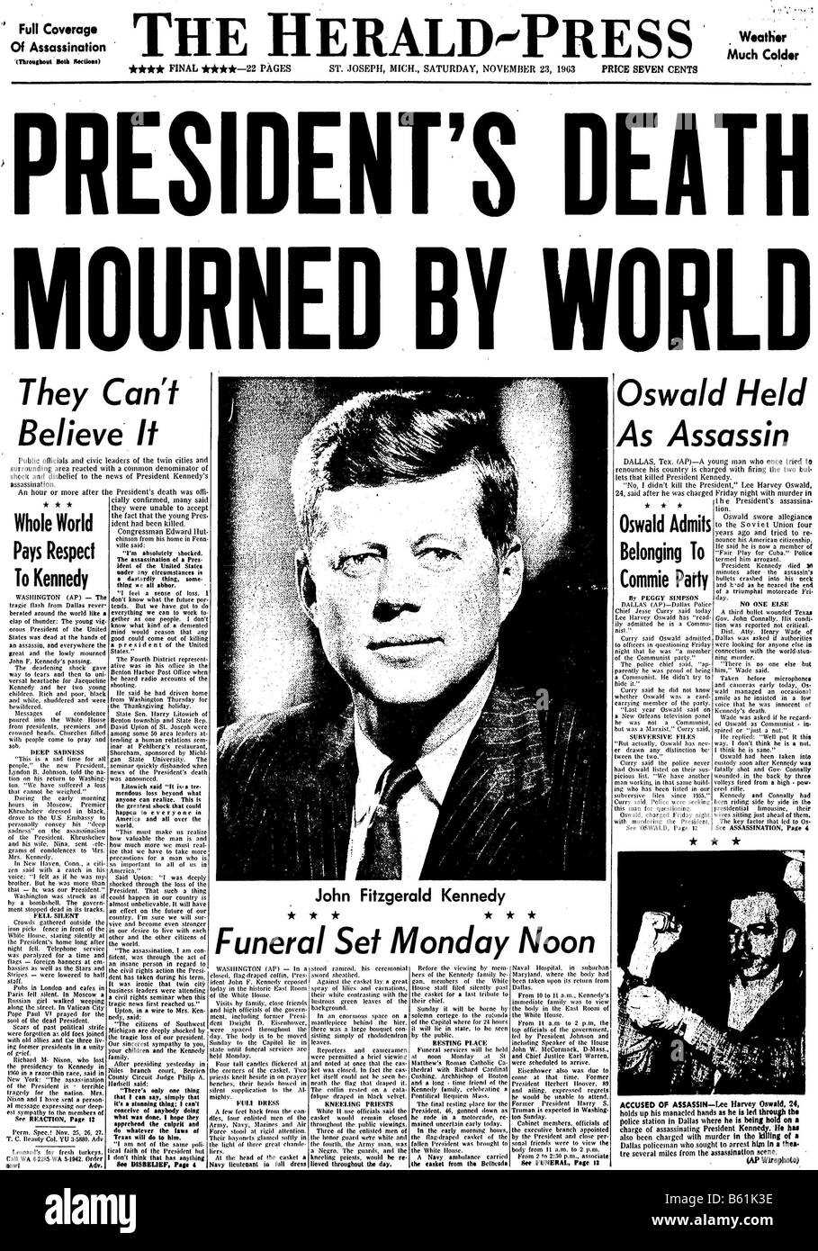 a report of the assassination of president john fkennedy Report of the president's commission on the assassination of president john f  kennedy (warren commission report.