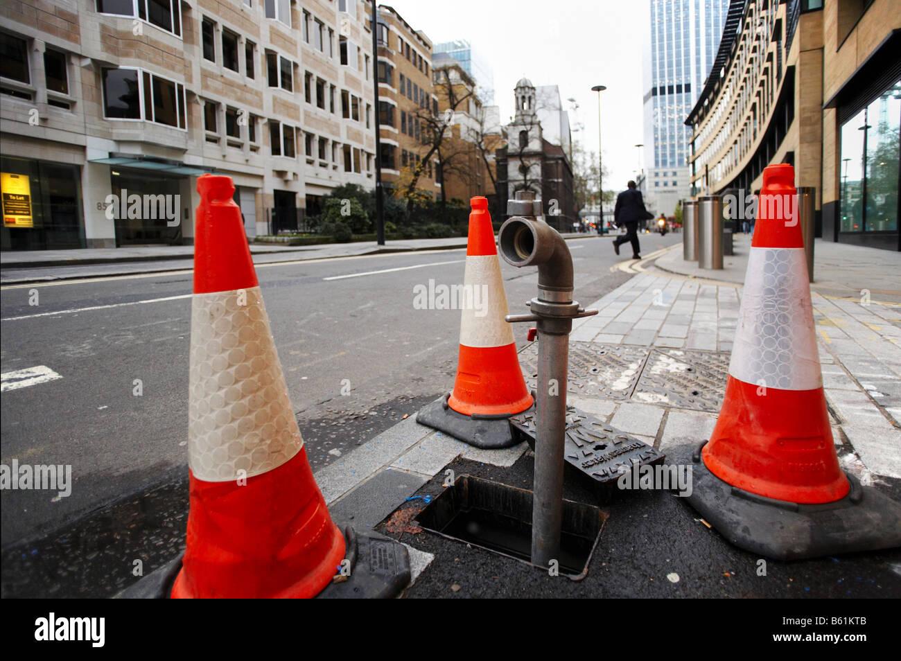utility works in London UK - Stock Image