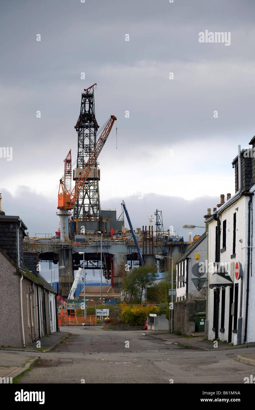 Ocean Princess Oil Exploration platform and Extraction Rig, Invergordon,  Cromarty Firth, Scotland, uk - Stock Image
